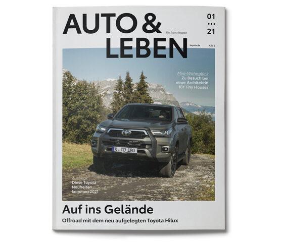 Cover von dem Auto und Leben Magazin von Toyota