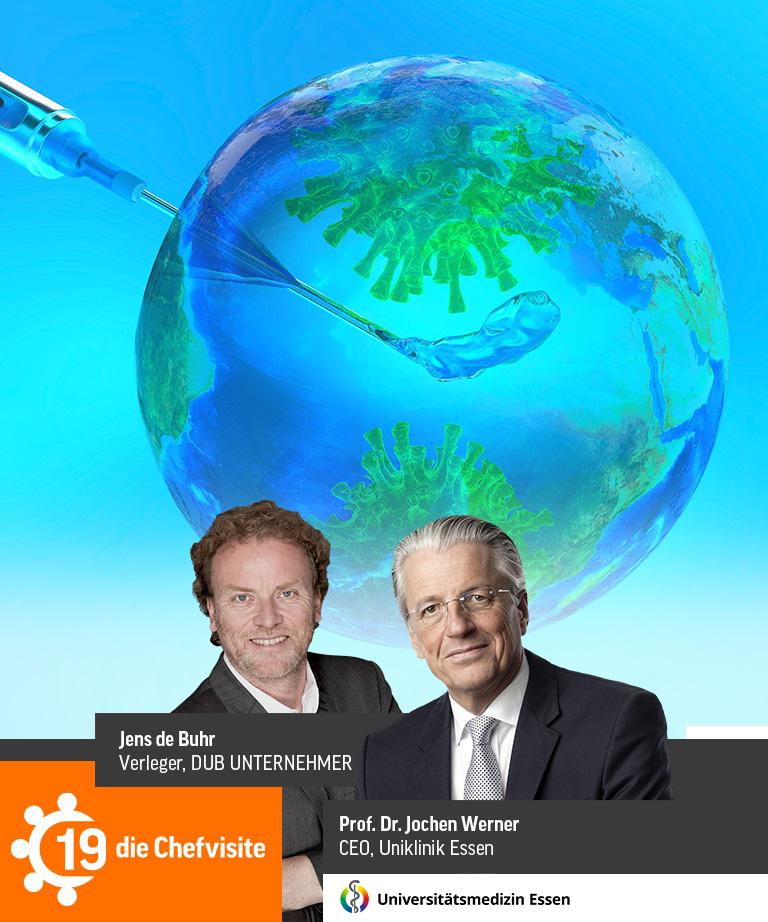 Banner DUB Chefvisite mit Jens de Buhr und Prof. Dr. Jochen Werner