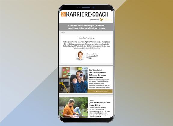 Mock-Up DUP Newsletter Karriere Coach