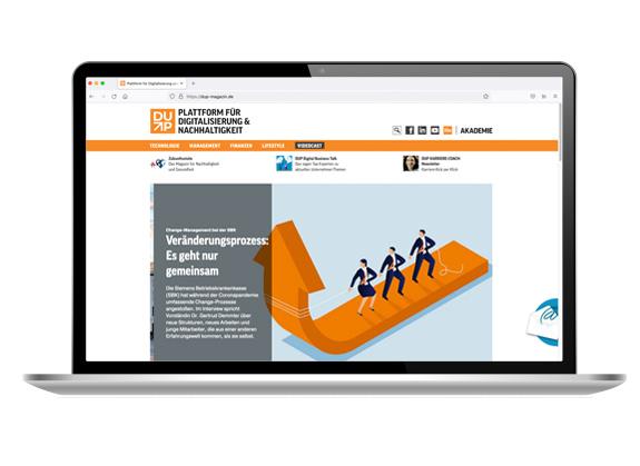 Mock-Up der Website auf einem Laptop