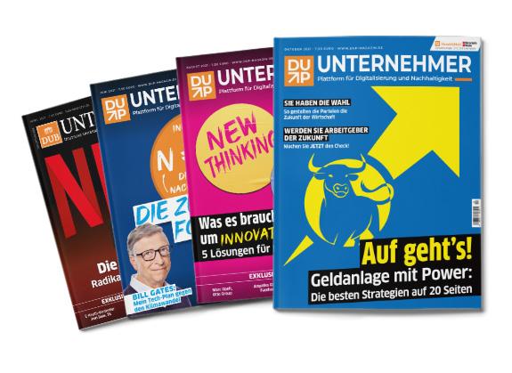 Verschiedene Magazin vom DUP Unternehmer Magazin
